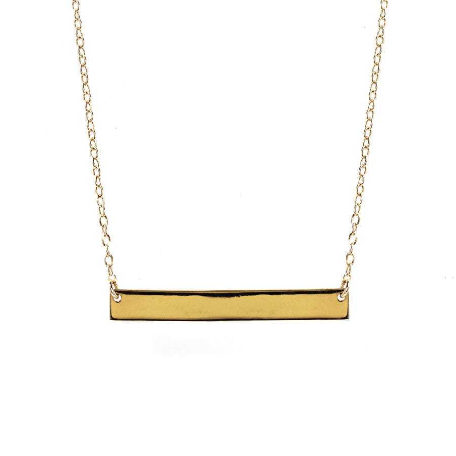 Dainty Horizontal Bar Necklace, Necklaces - AMY O. Jewelry