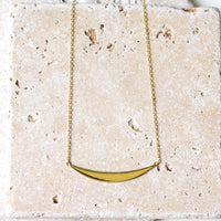Curved Bar Pendant Necklace, Necklaces - AMY O. Jewelry