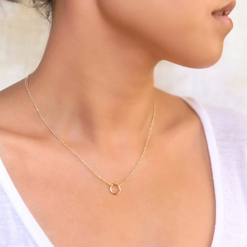 Lily Gold Necklace, Necklaces - AMY O. Jewelry