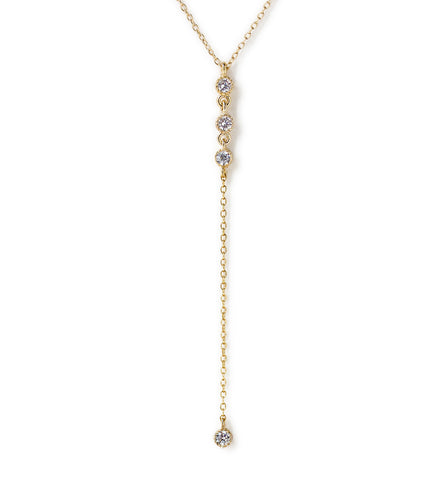 Ella Gold Lariat, Necklaces - AMY O. Jewelry
