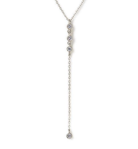 Ella Silver Lariat, Necklaces - AMY O. Jewelry