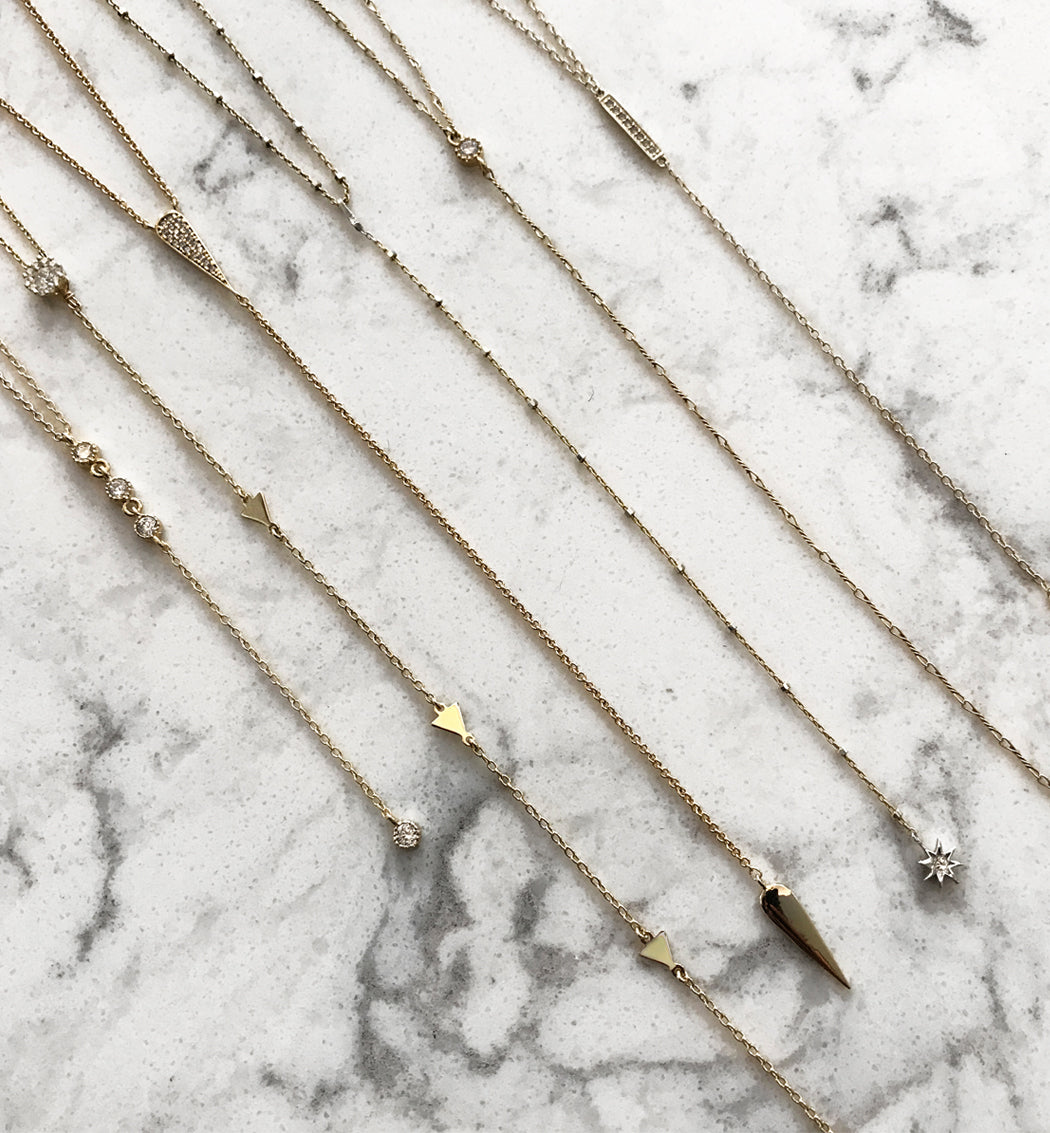 Nina Drop Lariat, Necklaces - AMY O. Jewelry