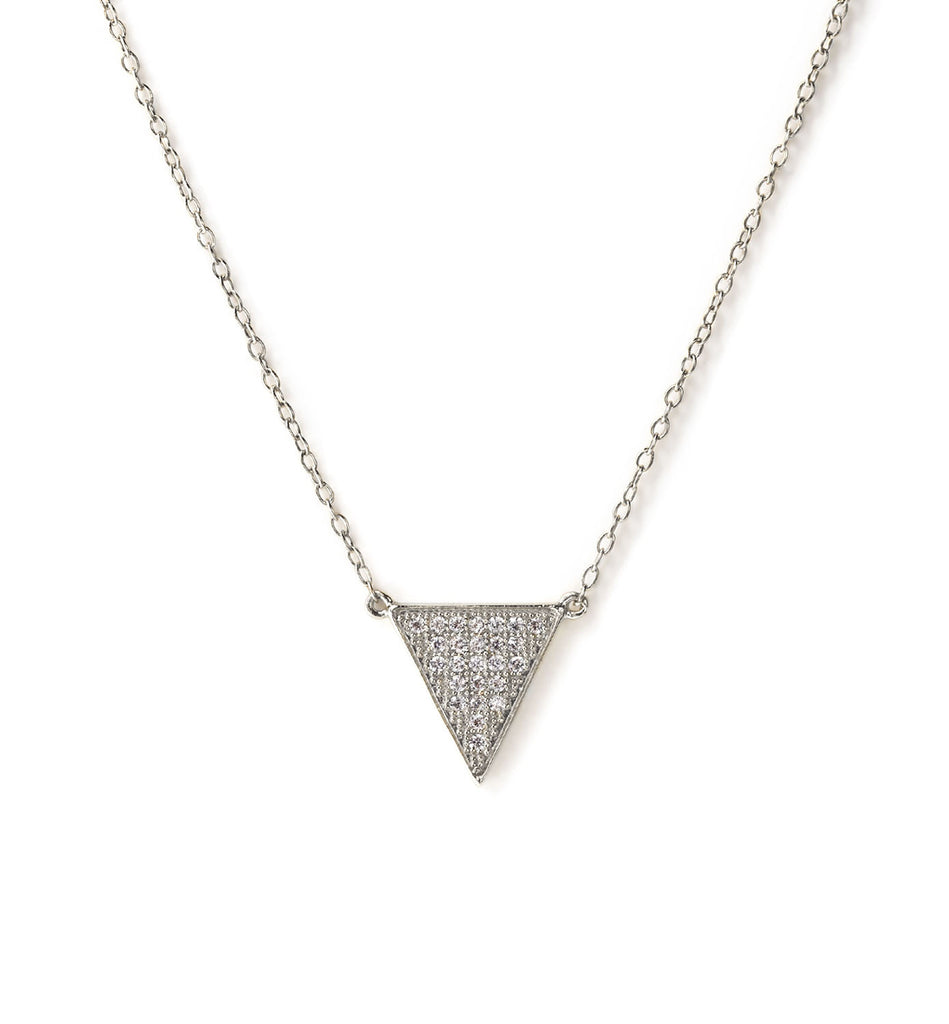 Delta Silver Diamond Necklace, Necklaces - AMY O. Jewelry