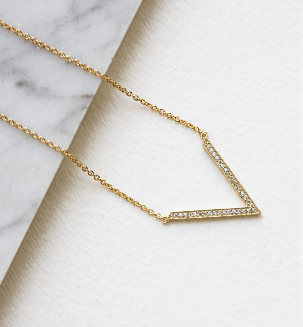 Delta Open Necklace, Necklaces - AMY O. Jewelry