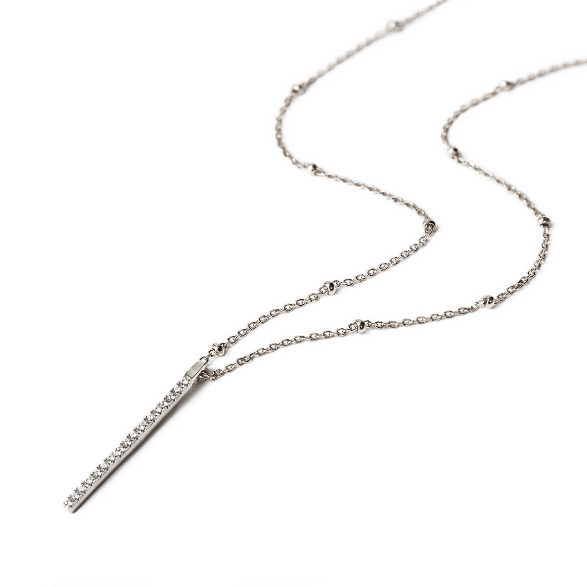 Bar Bead Chain Necklace