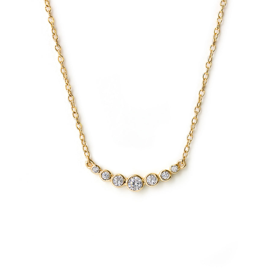Lina Curve Necklace, Necklaces - AMY O. Jewelry