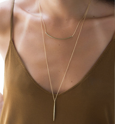 Mila Gold Necklace, Necklaces - AMY O. Jewelry