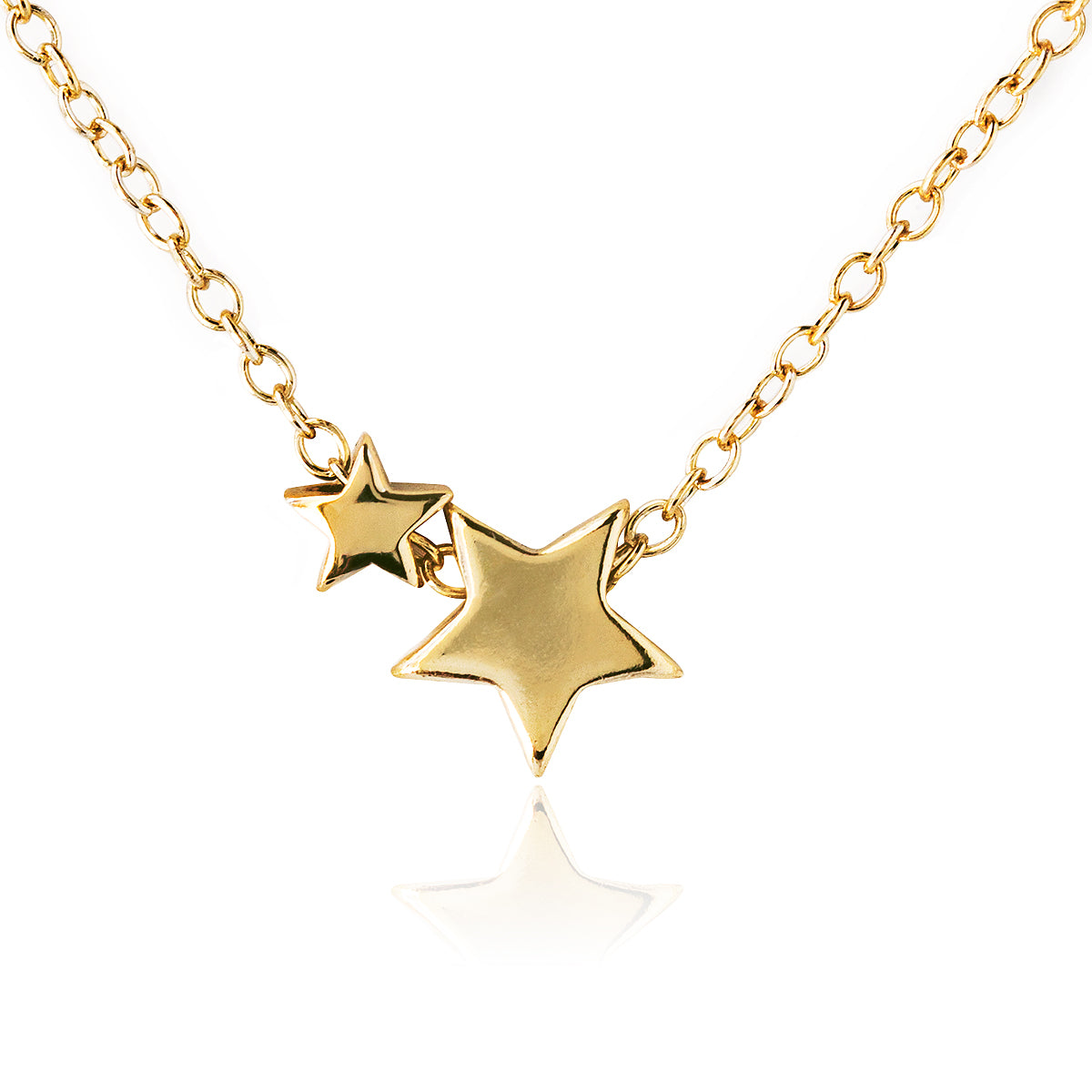 Vega Star Duo Pendant Necklace, Necklaces - AMY O. Jewelry