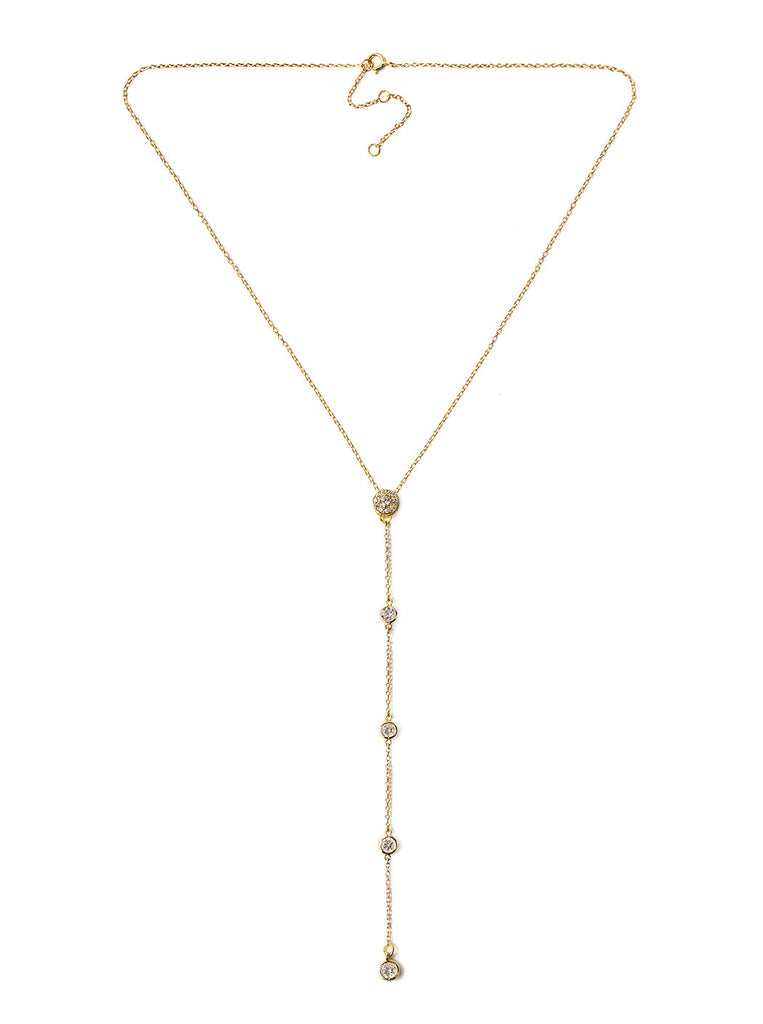 Sienna Gold Lariat, Necklaces - AMY O. Jewelry