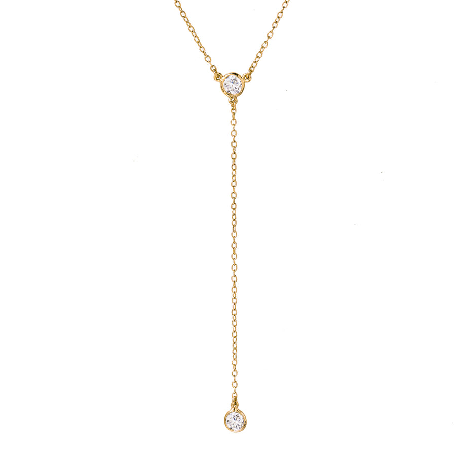 Dakota Y Lariat Necklace, Necklaces - AMY O. Jewelry