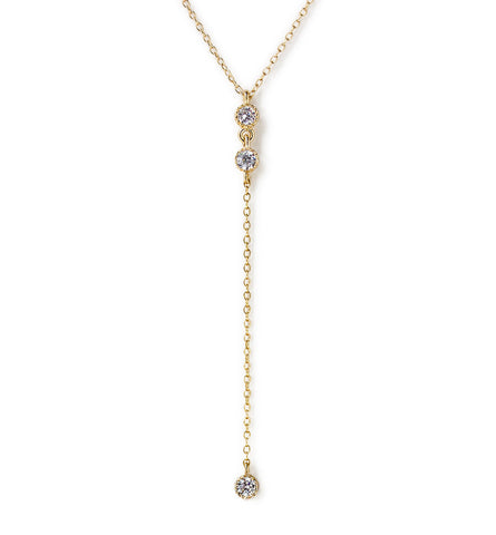 Ella Mini Gold Lariat
