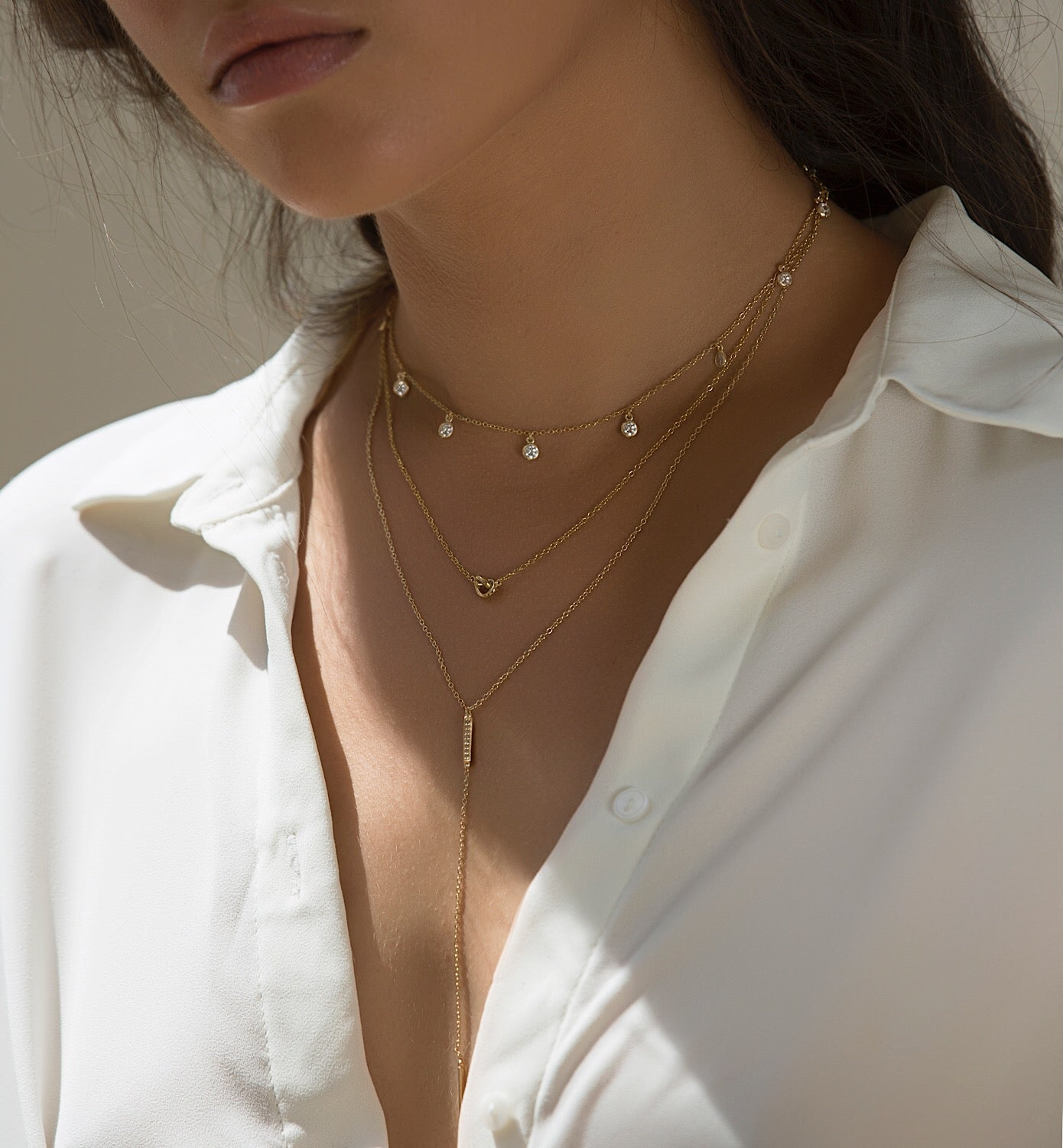 Gigi Bar Lariat, Necklaces - AMY O. Jewelry