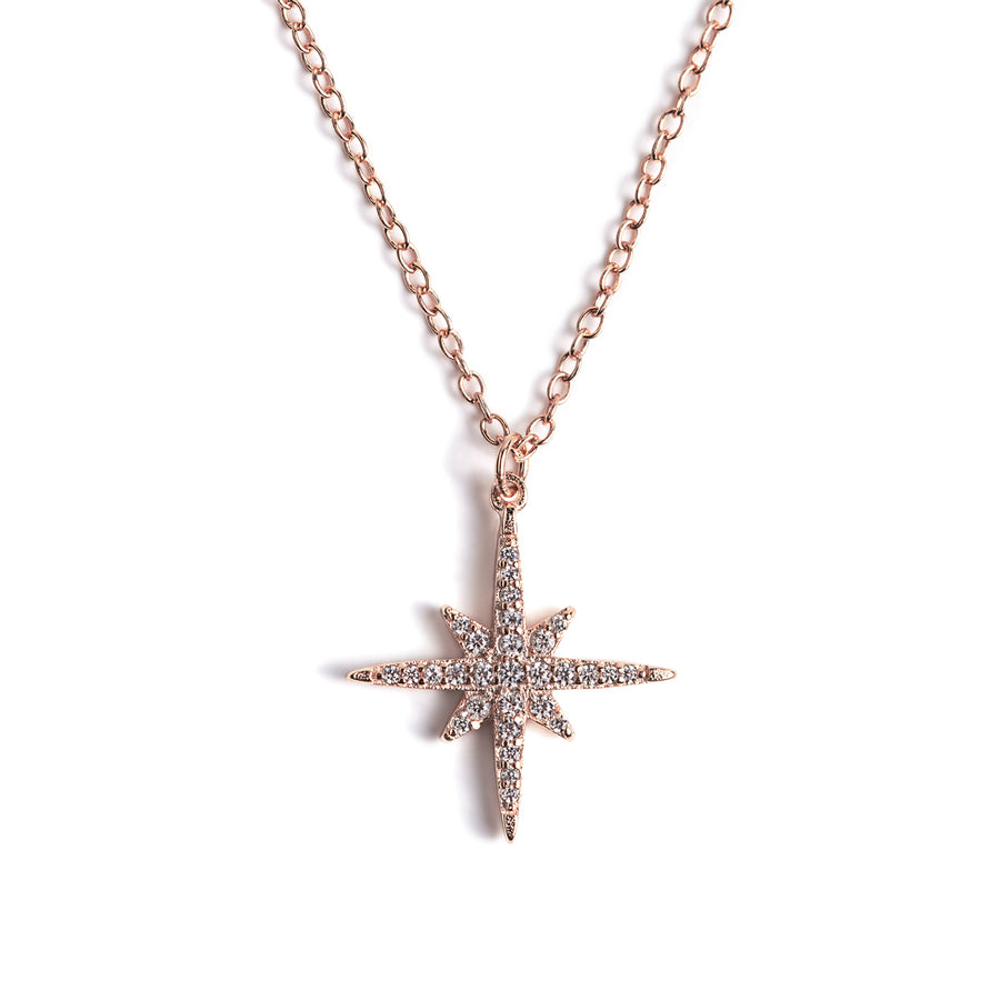 Celeste Star Pendant Necklace, Necklaces - AMY O. Jewelry
