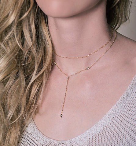 Aya Choker Lariat Necklace