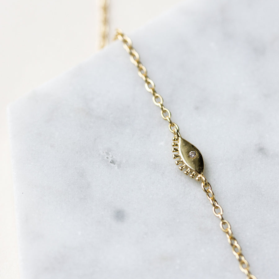 Aila Choker Lariat Necklace, Necklaces - AMY O. Jewelry
