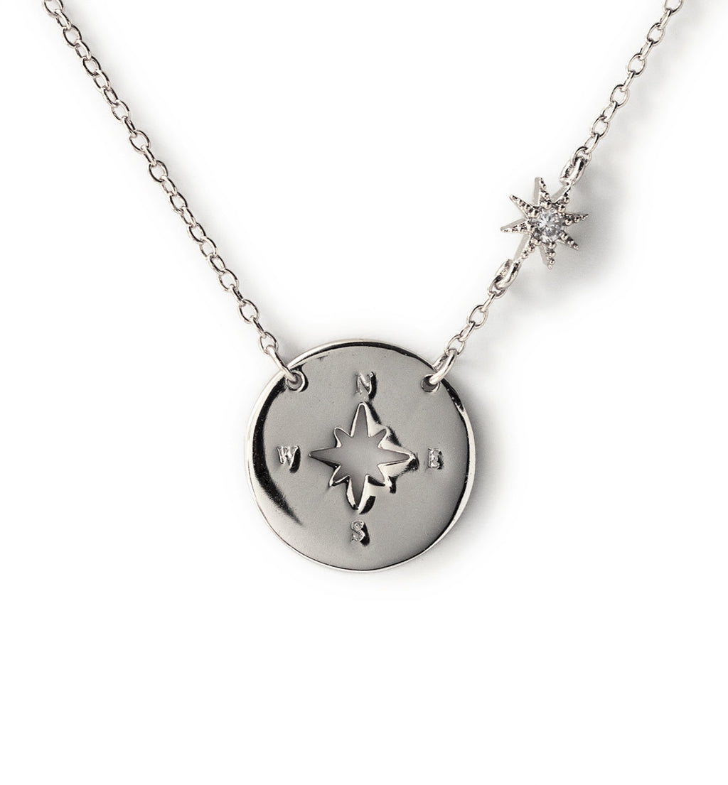 Compass necklace pendant necklace amy o jewelry amy o jewelry savannah necklace in silver necklaces amy o jewelry aloadofball Image collections