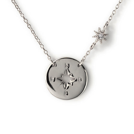 Star Compass Disc Necklace