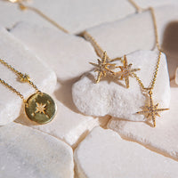 Celeste Star Layered Necklace, Necklaces - AMY O. Jewelry