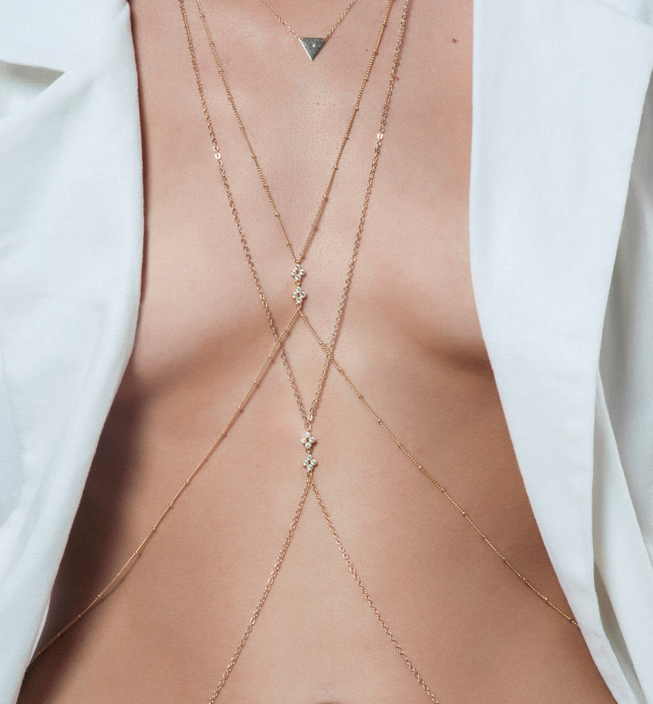 Flora Bodychain, Body Chain - AMY O. Jewelry