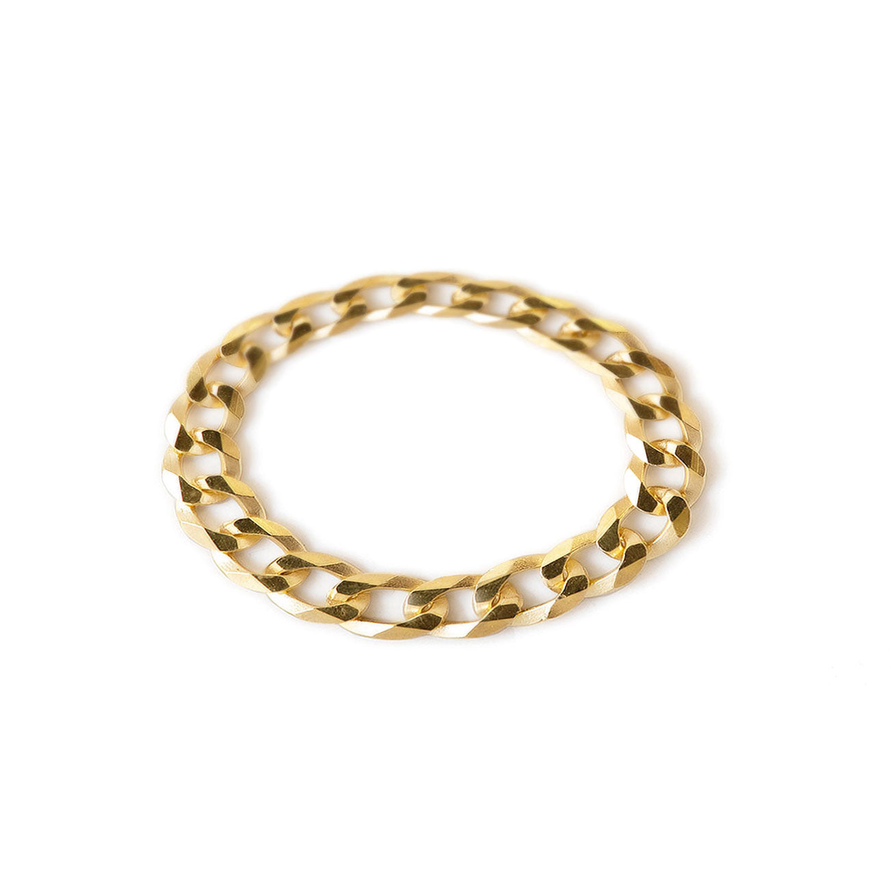 Gold Curb Chain Link Ring