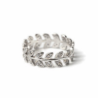 Leaf Vine Eternity Ring