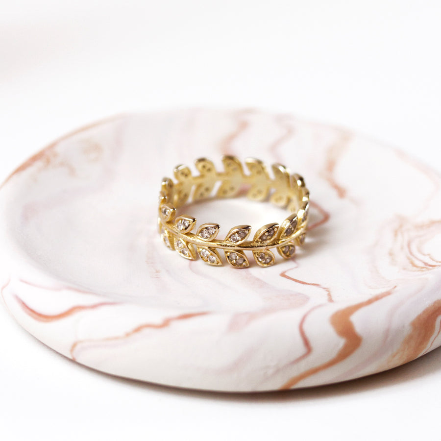 Leaf Vine Eternity Ring, Rings - AMY O. Jewelry