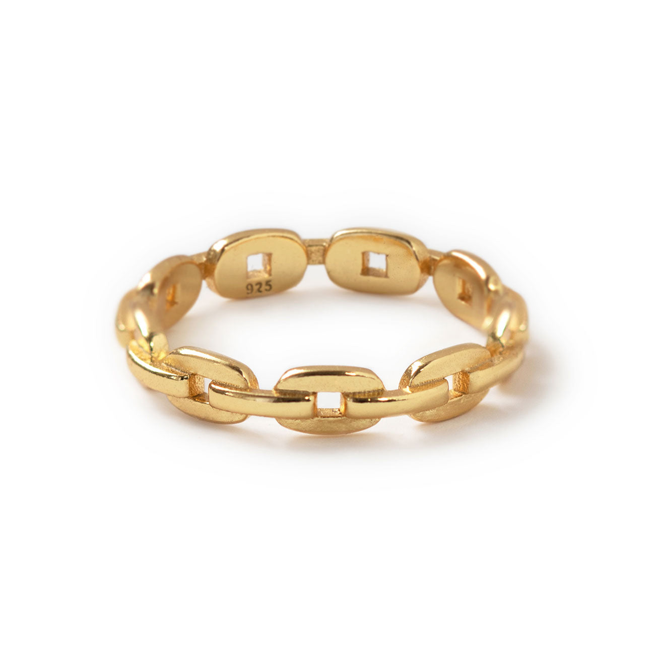 Gold Minimalist Chain Link Ring