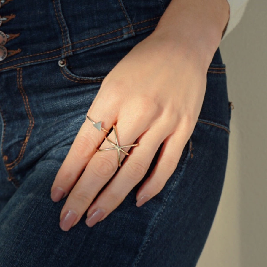 Delta Triangle Ring, Rings - AMY O. Jewelry