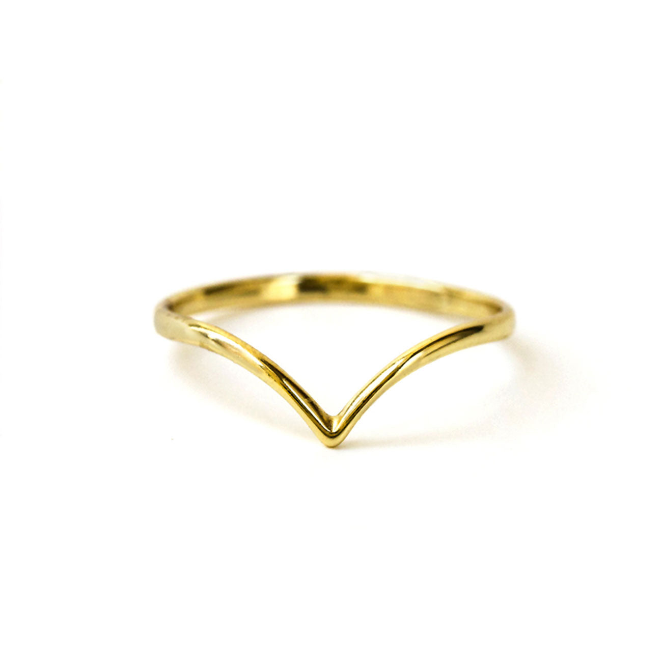 Dainty Gold Chevron Ring