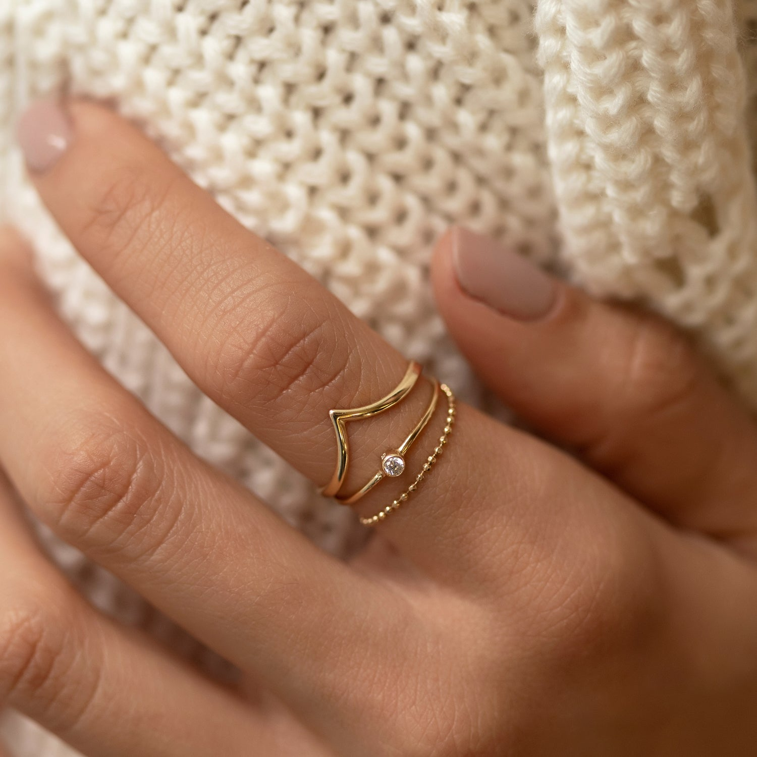 Dainty Chevron Ring, Rings - AMY O. Jewelry