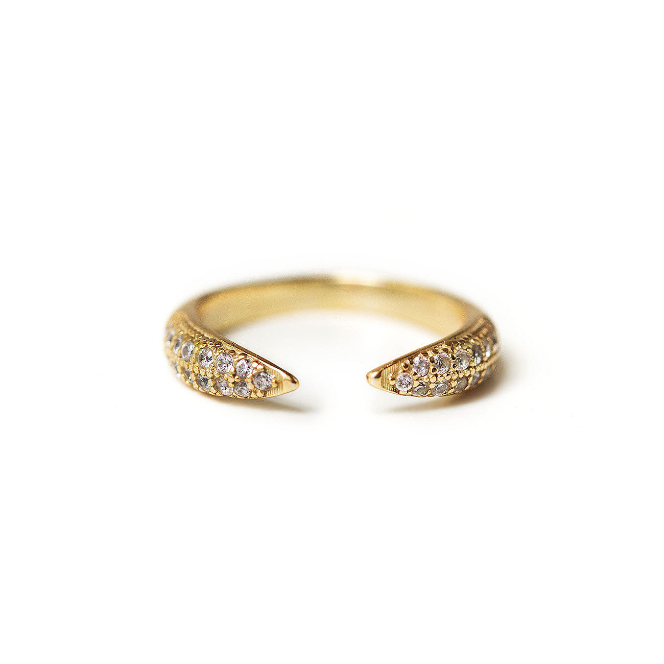 Gold Pave Claw Ring