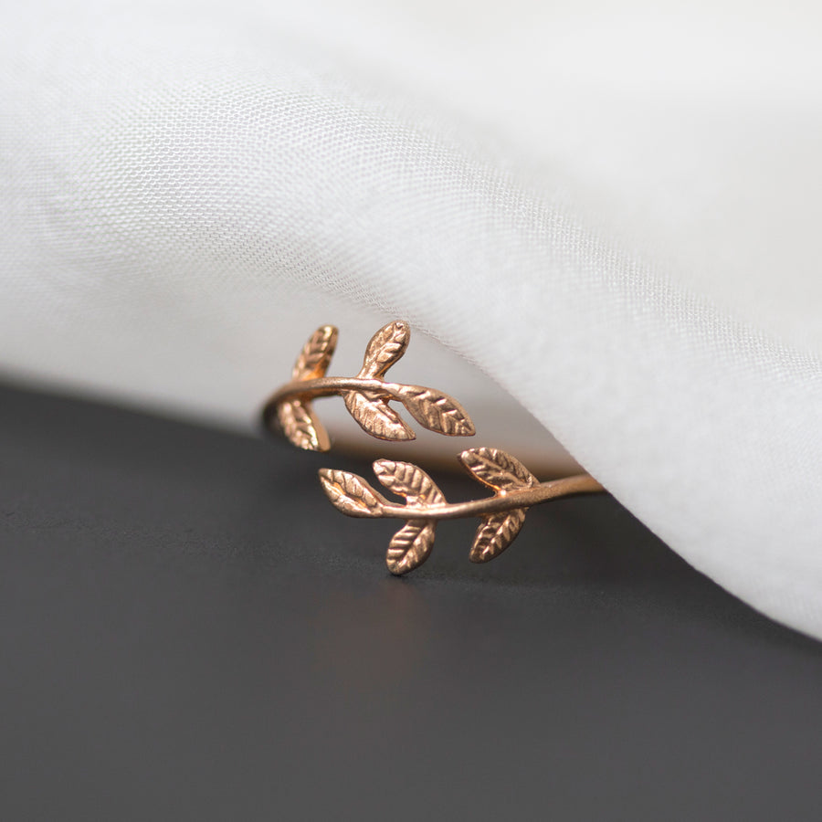 Athena Leaf Wrap Ring, Rings - AMY O. Jewelry