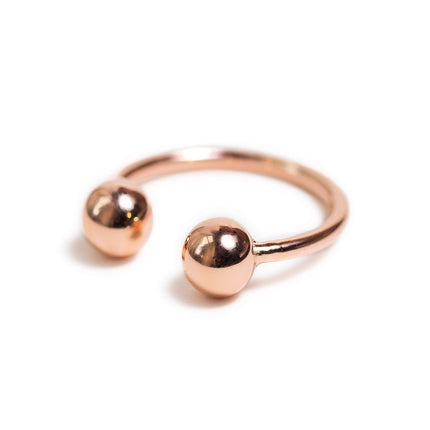 Double Ball Open Ring