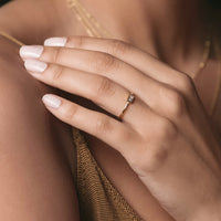 Baguette Bezel Ring, Rings - AMY O. Jewelry