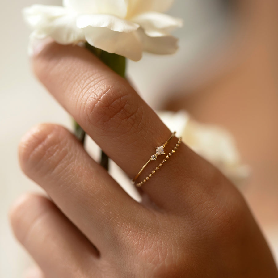 Tiny Duo Ring, Rings - AMY O. Jewelry