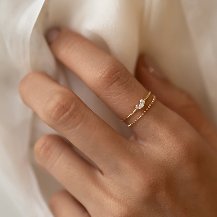 Tiny Heart Ring, Rings - AMY O. Jewelry