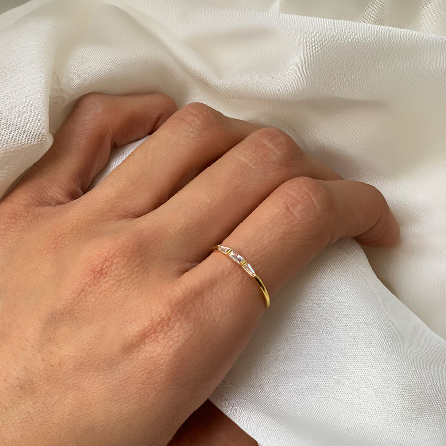 Dainty Baguette Ring, Rings - AMY O. Jewelry