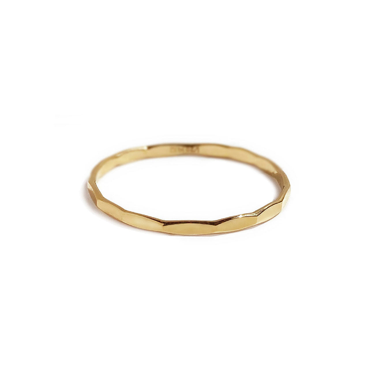 Gold fill Hammered Textured Ring