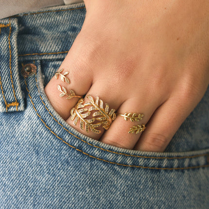 Athena Leaf Wrap Ring