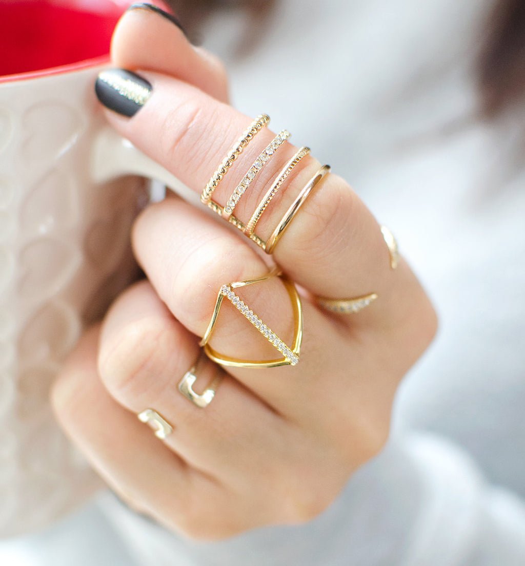 Audra Gold Ring, Rings - AMY O. Jewelry