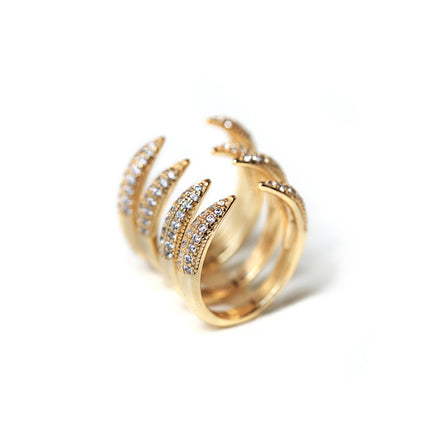 Claw Pave Ring Set