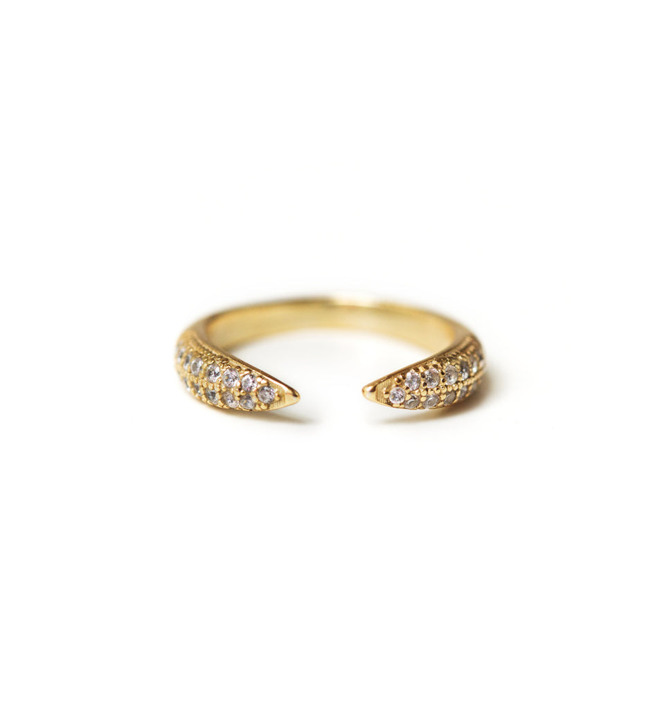 Cage Gold Pave RingRings - AMY O. Jewelry