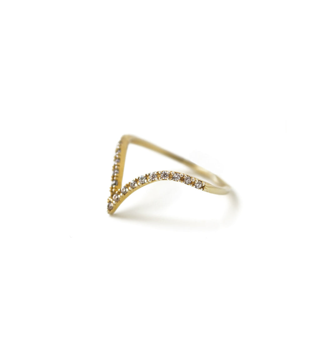 Chevron Gold Ring, Rings - AMY O. Jewelry