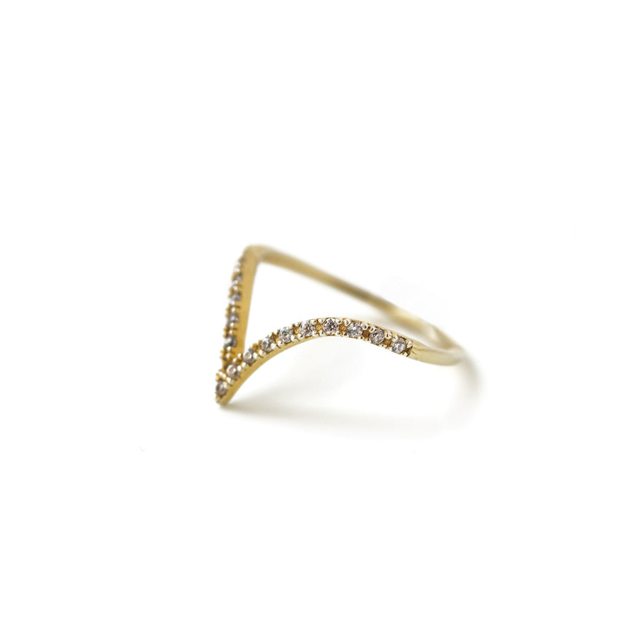 Pave Chevron Ring, Rings - AMY O. Jewelry