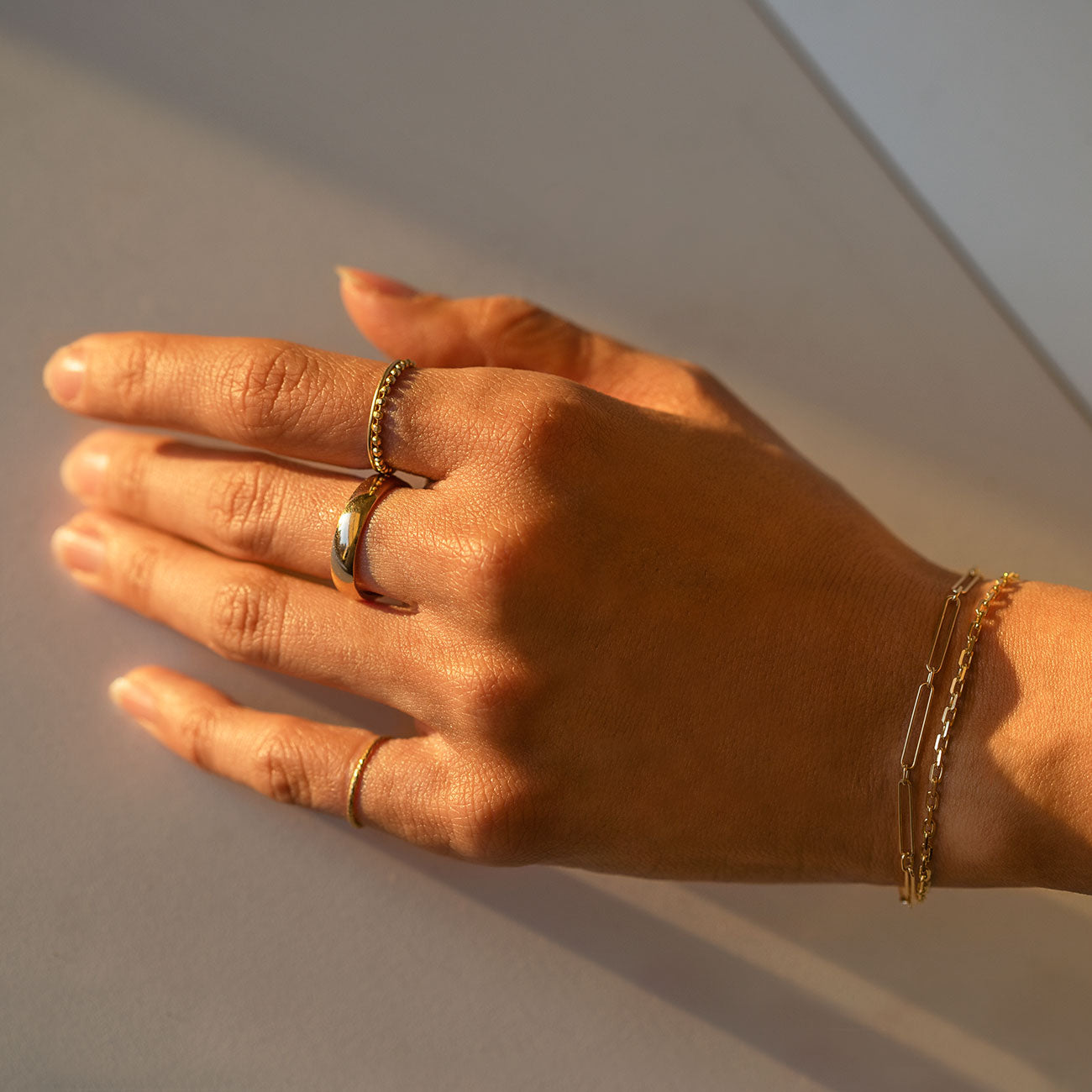 Solid Gold Chain Bracelet