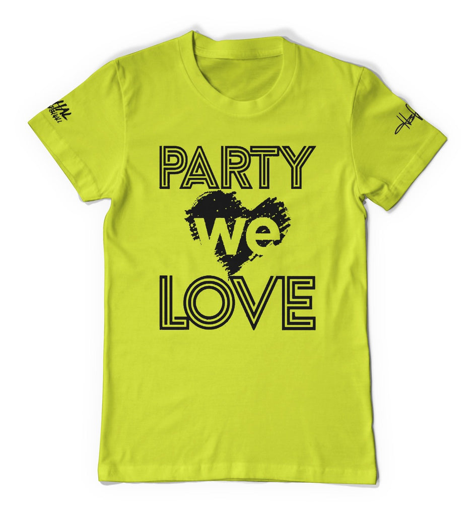 Lime Green Unisex Party we love T-Shirt