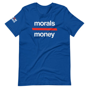 Morals Over Money - Biden Harris Victory Shirt