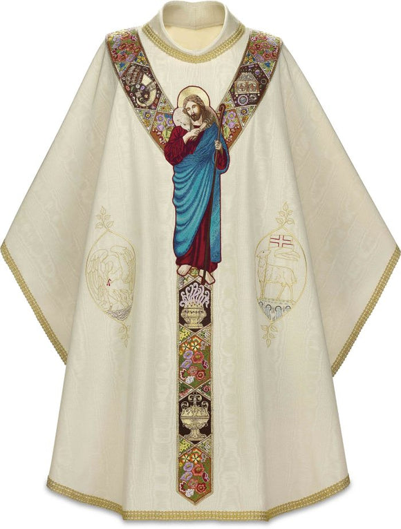 Slabbink - Handembroidered Chasuble of the Good Shepherd