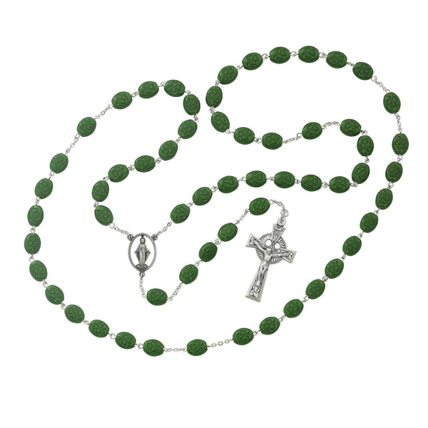 Shamrock Rosary - 6 x 8MM