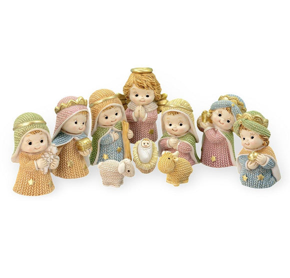 10 pc Pastel Nativity Set